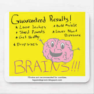 Suplemento dietético de los cerebros alfombrilla de raton