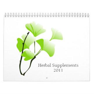 Suplementos herbarios 2011 calendario de pared