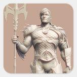 Suplente de Aquaman Calcomania Cuadradas Personalizada