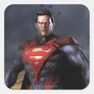 Suplente del superhombre pegatina cuadrada