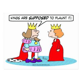 Suponen a los reyes hacerlo alarde de postales