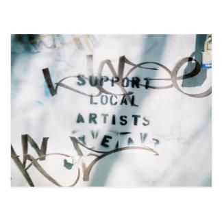 Suport Local Artists Postcard