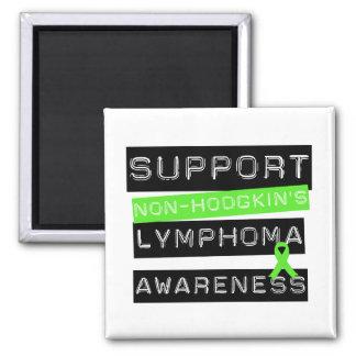 Suport Non-Hodgkin's Lymphoma Awareness 2 Inch Square Magnet