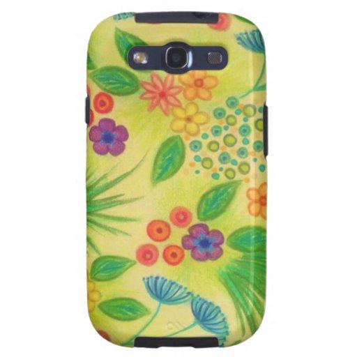 SUPOSICIÓN 3 del WILDFLOWER - precioso verde fresc Samsung Galaxy S3 Coberturas