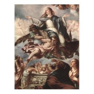 Suposición de Juan de Valdes Leal de la Virgen Tarjeta Postal