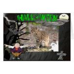 Suposición de la tarjeta de Halloween del gato de