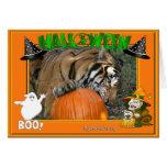 Suposición de la tarjeta de Halloween del tigre