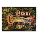 Suposición de la tarjeta de Navidad del Victorian