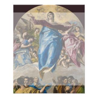 """Suposición de la Virgen de El Greco Folleto 4.5"""" X 5.6"""""""