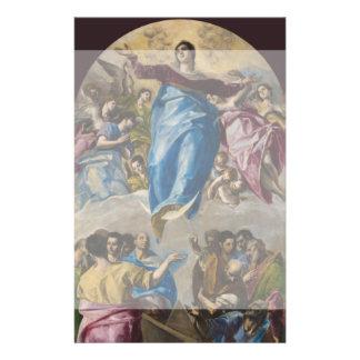 """Suposición de la Virgen de El Greco Folleto 5.5"""" X 8.5"""""""