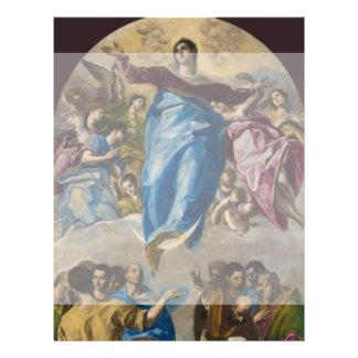 """Suposición de la Virgen de El Greco Folleto 8.5"""" X 11"""""""