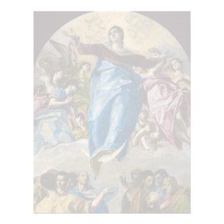 Suposición de la Virgen de El Greco Membrete Personalizado