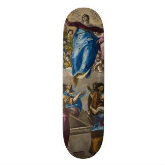 """Suposición de la Virgen de El Greco Patineta 7 3/8"""""""