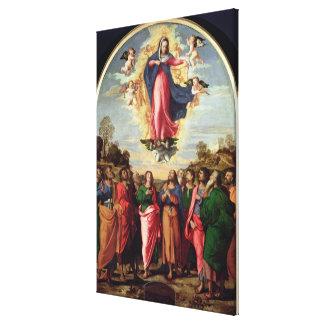Suposición de la Virgen Impresión En Lona Estirada