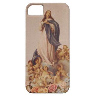 Suposición del Virgen María bendecido iPhone 5 Cárcasas