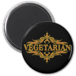 Suposición en Brown - vegetariano Iman Para Frigorífico