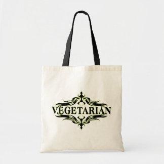Suposición en el negro - vegetariano bolsas lienzo