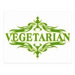 Suposición en el verde - vegetariano postal