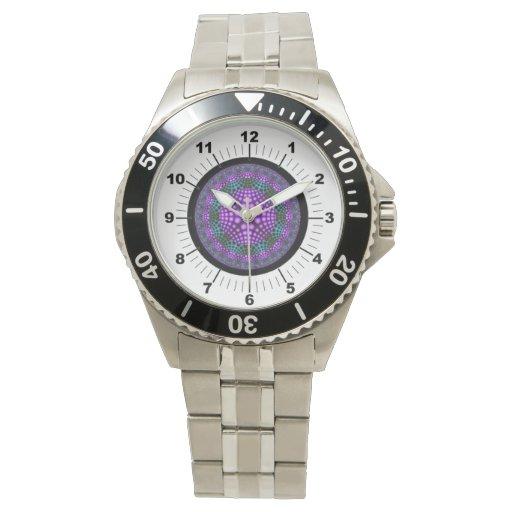 Suposición, reloj moderno de la plantilla del