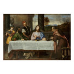 Supper at Emmaus (1533–1534) by Titian Print