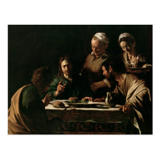 Supper at Emmaus, 1606 Postcard