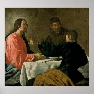 Supper at Emmaus, 1620 Poster