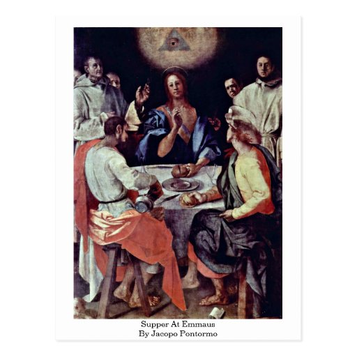 Supper At Emmaus By Jacopo Pontormo Postcard
