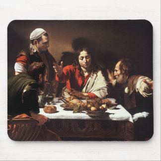Supper at Emmaus - Caravaggio) Mouse Pad