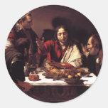 Supper at Emmaus Classic Round Sticker