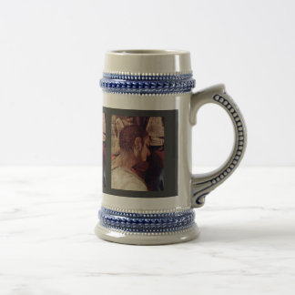 Supper At Emmaus Detail By Pontormo Jacopo 18 Oz Beer Stein