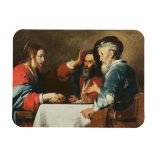 Supper at Emmaus (oil on canvas) 2 Magnet