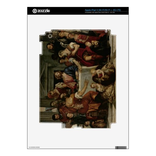 Supper at Emmaus (oil on canvas) iPad 3 Decal