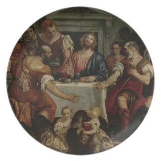 Supper at Emmaus (oil on canvas) Plate