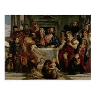Supper at Emmaus (oil on canvas) Postcard