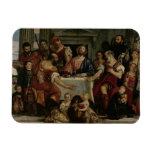 Supper at Emmaus (oil on canvas) Rectangle Magnet