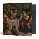 Supper at Emmaus (oil on canvas) Vinyl Binder