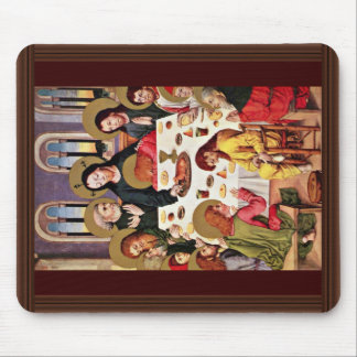 Supper By Meister Des Hausbuches (mejor de los señ Tapetes De Ratón