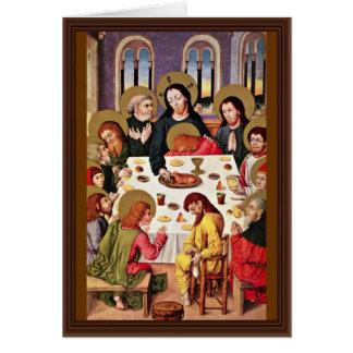 Supper By Meister Des Hausbuches (mejor de los señ Tarjeta De Felicitación