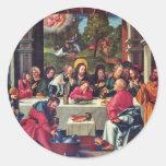 Supper By Schäufelein Hans Round Sticker