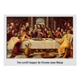 Supper By Vicente Juan Masip de los señores Impresiones