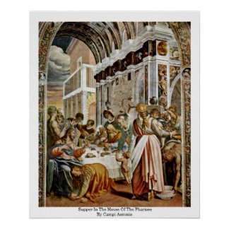 Supper In The House Of The Pharisee Poster