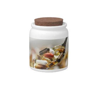 Supplements Candy Jar