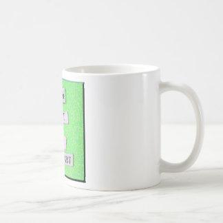 Supplicant (verde) taza básica blanca