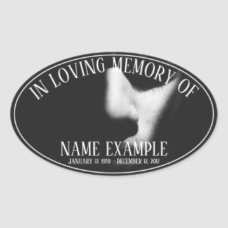 Supplies for Funeral and Bereavements Oval Sticker