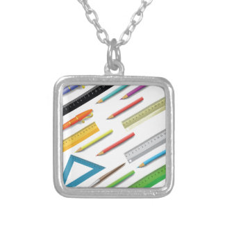 supplies set silver plated necklace