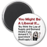 Supply And Demand Fridge Magnet