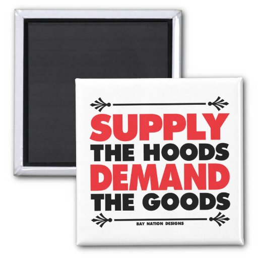 Supply & Demand 2 Inch Square Magnet