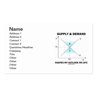 Supply & Demand Shapes My Outlook On Life Business Card