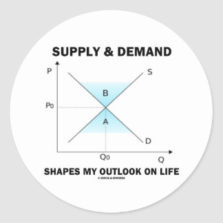 Supply & Demand Shapes My Outlook On Life (Econ) Classic Round Sticker
