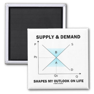Supply & Demand Shapes My Outlook On Life (Econ) Magnet